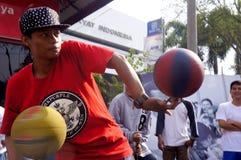 Баскетбол фристайла Стоковая Фотография