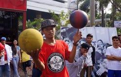 Баскетбол фристайла Стоковые Фотографии RF