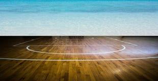 баскетбольная площадка если иллюстрация Стоковые Изображения