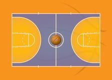 баскетбольная площадка если иллюстрация Стоковые Фотографии RF