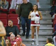 2014 баскетбол NCAA - действие игры виска Towson @ Стоковые Изображения