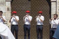 Баскские музыканты Стоковое Фото