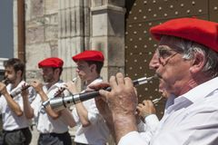 Баскские музыканты Стоковая Фотография