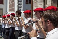 Баскские музыканты Стоковое фото RF