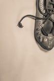 баскский конец abarka кожаного ботинка танцев вверх на русом взгляд сверху предпосылки Стоковые Фотографии RF