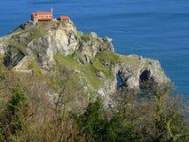баскский bermeo страна de gaztelugatxe juan san Стоковое Изображение