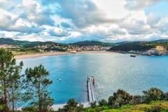 Баскское побережье в Plentzia и Gorliz стоковая фотография rf