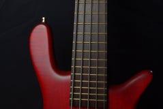 Красная басовая гитара Стоковые Изображения