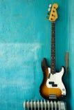 басовая гитара Стоковая Фотография