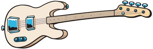 басовая гитара иллюстрация штока