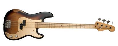 басовая коричневая гитара Стоковые Изображения RF