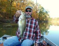басовое рыболовство Стоковые Фотографии RF
