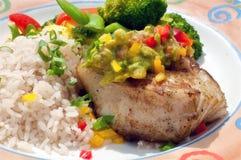 басовое chilaean flakey veg моря риса 2 Стоковое фото RF