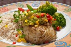 басовое chilaean flakey veg моря риса Стоковые Фото