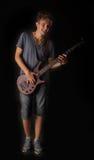 Басовый гитарист стоковые изображения rf