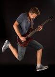 Басовый гитарист стоковое изображение rf