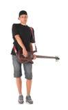 Басовый гитарист стоковая фотография rf