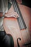 басовый игрок Кубы двойной Стоковое Изображение