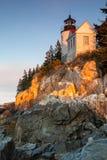 Басовый маяк гавани, Мейн, США Стоковое Фото