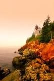 басовый маяк гавани Стоковое Изображение