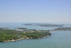 Басовый остров, Огайо стоковое изображение rf