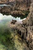 бассеины porto moniz Мадейры острова естественные Стоковая Фотография