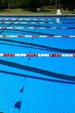 Бассеин конкуренции заплывания Стоковое Изображение