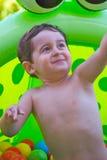 бассеин ребенка пластичный играя Стоковое Изображение
