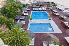 2 бассейна в зоне отдыха Стоковые Изображения