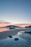 Бассейны в песке Стоковые Фотографии RF