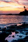 Бассейны захода солнца и прилива Стоковое Изображение RF
