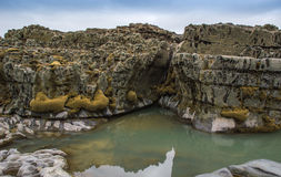 Бассейны и скалы утеса Стоковые Фотографии RF
