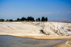 Бассейны и террасы травертина в Pamukkale Стоковое фото RF