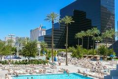 Бассейны Лас-Вегас в солнечном дне Стоковая Фотография RF