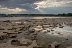 Бассейны прилива и лучи бога Стоковые Изображения RF