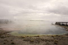 Бассейны Gyeser в Йеллоустоне Стоковые Фотографии RF