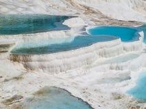 Бассейны Pamukkale стоковые изображения rf