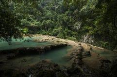 Бассейны Semuc Champey, Гватемала Стоковые Изображения RF