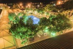 Бассейн входа гостиницы деревни Filerimos Стоковые Изображения RF