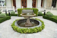 Бассейн в саде Стоковое Фото