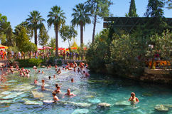 Бассейн в Hierapolis, Pamukkale, Турция Стоковое Изображение