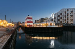 Бассейн гавани Оденсе внешний, Дания Стоковая Фотография RF