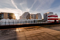 Бассейн гавани Оденсе внешний, Дания Стоковое Изображение