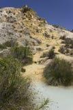 Бассейн горячего источника Bagno Vignoni стоковые фото