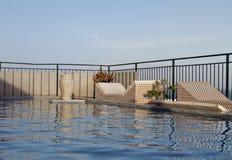 Бассейн и небо Стоковое фото RF