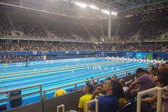 Бассейн на олимпийском стадионе Aquatics Стоковое фото RF