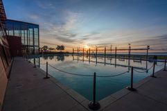 Бассейн отражения восхода солнца Burlington Онтарио стоковые фото