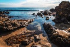 Бассейн прилива на пляже Laguna стоковые фото