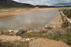 Бассейн, пруд, своды и колеса Ferris сделанные в Ashlar и Manposteria Salinas в Imon со своим красивым цветом Брайна Archite стоковые фотографии rf