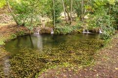 Бассейн с водопадами, Сардиния природы Стоковая Фотография RF